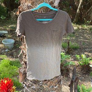 Gap Brown Ombré Tee Shirt Size M